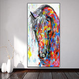 Oil Painting Posters Running Horse No Frame