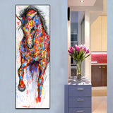 Painting Running Horse Wall Picture Poster  No Frame