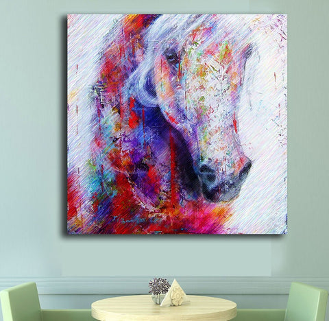 Pop Art Horse art Head  Wall Decor Painted