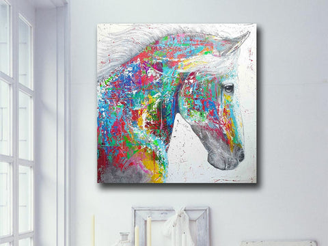 Pop Art Horse art Head Wall Decor
