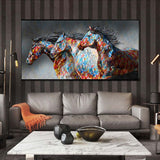 Running Horse Canvas Painting Wall Art No Frame
