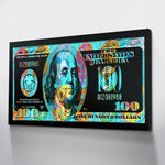 Colorful Dollars Art Wall