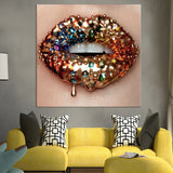 Lips Poster Paintings For Living Room