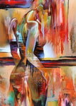 Nude Abstract Beauty Girl Portrait Painting Print On Canvas