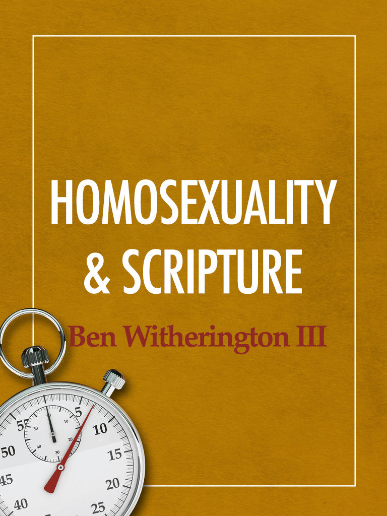 Ben witherington homosexuality and christianity