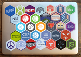 FotoWare Hexagon Stickers