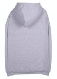 Lined Logo Hoodie Grey Flay Lay Back
