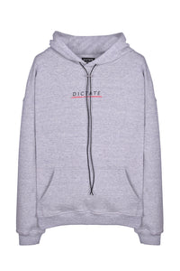 Lined Logo Hoodie Grey Flat Lay Front