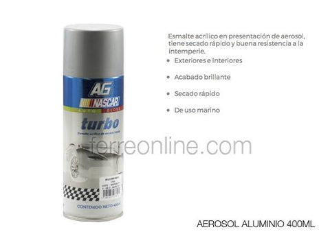 AEROSOL BLANCO MATE 400ML TURBO 796