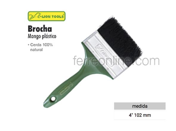 "BROCHA 4"" MANGO PLASTICO LION TOOLS 8456"