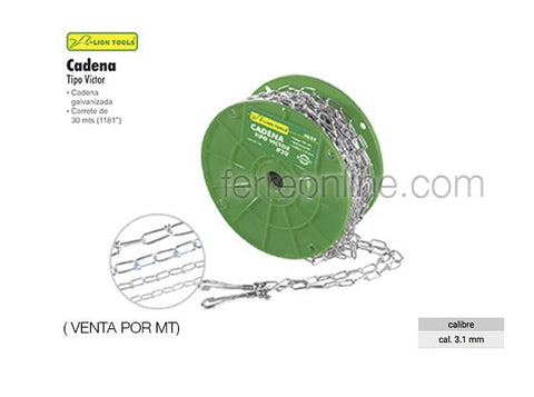 CADENA TIPO VICTOR 3.1 MM LION TOOLS 4636 (POR MT)