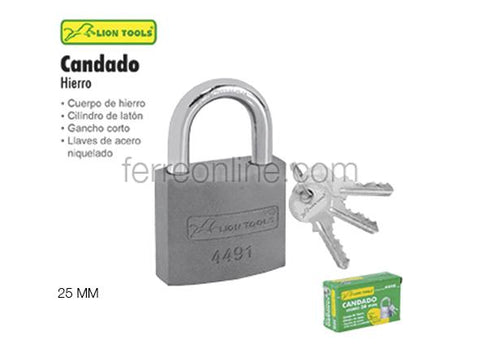 CANDADO DE HIERRO 25MM LION TOOLS 4489