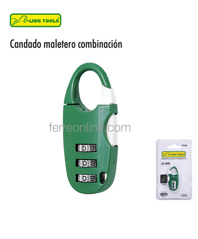 CANDADO MALETERO 3 DIGITOS LION TOOLS 7440