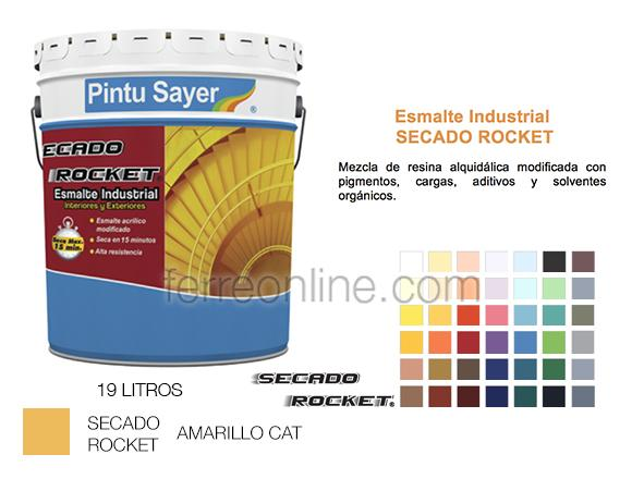 ESMALTE AMARILLO CATERPILLAR 19LT SAYER EK-0734.50 SECADO R