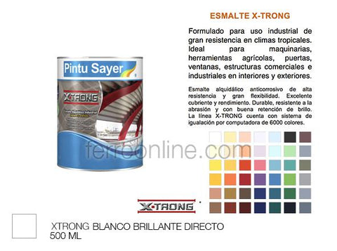 ESMALTE BLANCO 500ML SAYER XTRONG EX-0200.20