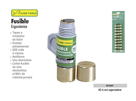 FUSIBLE CON AGARRADERA 30 AMP LION TOOLS 1646