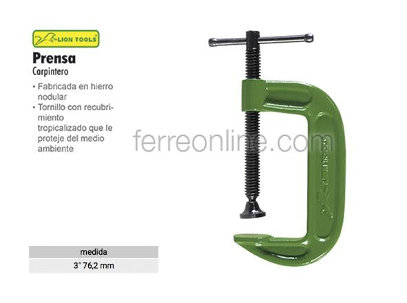 "PRENSA EN ""C"" 3"" LION TOOLS 3317"