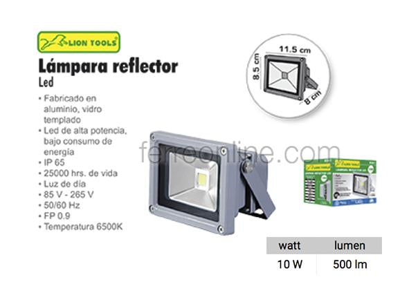 REFLECTOR LED 10W LION TOOLS 8361