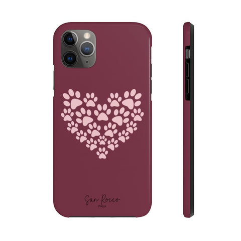 Paw Print Heart Case Mate Tough Phone Case -  www.greatgifts.online - Phone Case
