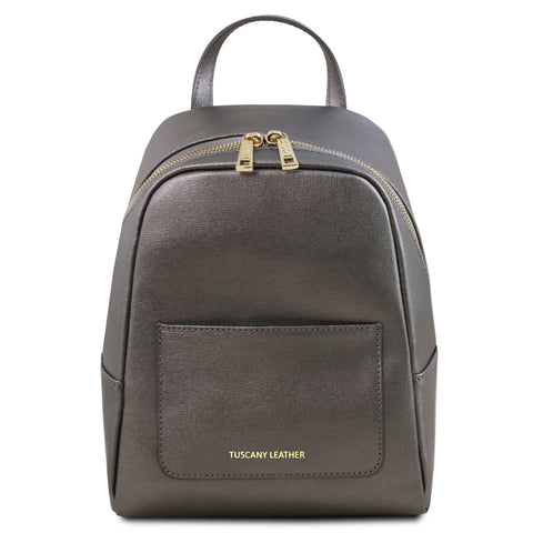 TL Bag - Small Saffiano leather backpack for women | TL141701 -  www.sanroccoitalia.it - Leather backpacks for women