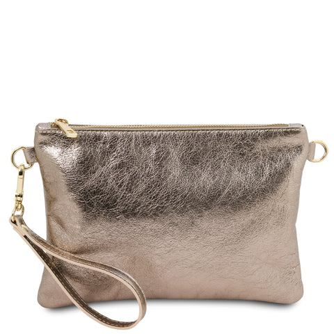 TL Bag - Metallic soft leather clutch | TL141988