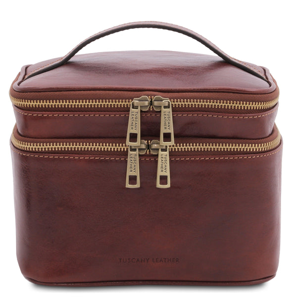 Eliot - Leather toiletry bag | TL142045 -  www.sanroccoitalia.it - Travel leather accessories