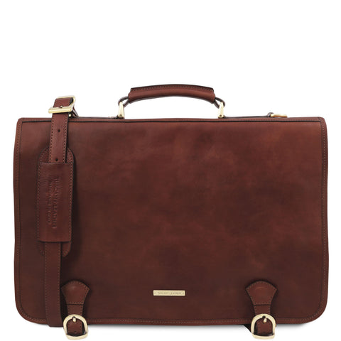 Ancona - Leather messenger bag | TL142073