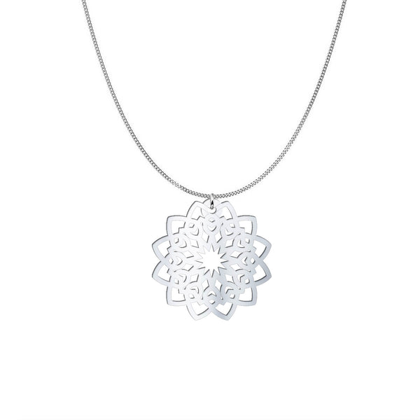 Mandala Necklace - Sterling Silver