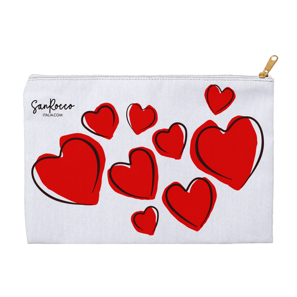 Red Hearts Accessory Pouches -  www.sanroccoitalia.it - Accessories
