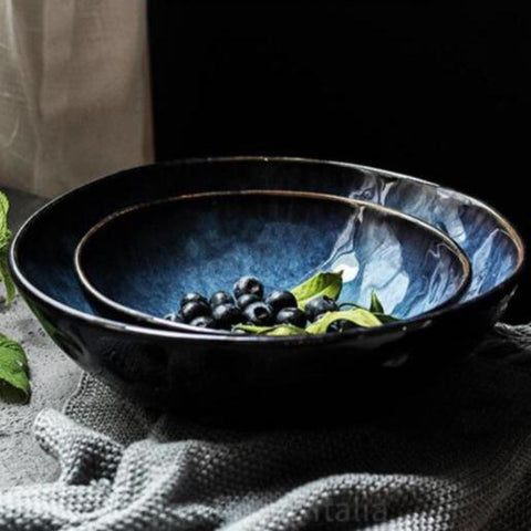 Deep Blue Japanese-Style Ceramic Bowls -  www.sanroccoitalia.it - Dinnerware