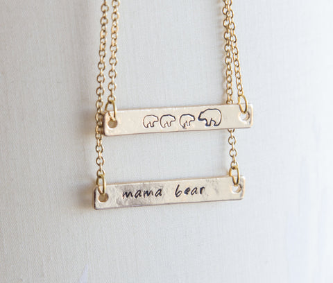 Mama bear necklace & mama and bear cub necklace -  www.greatgifts.online - Jewelry & Watches
