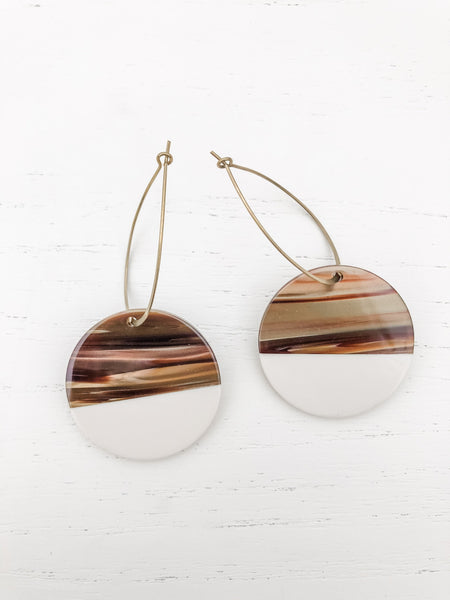 The Maddy Roundies Tan Earrings