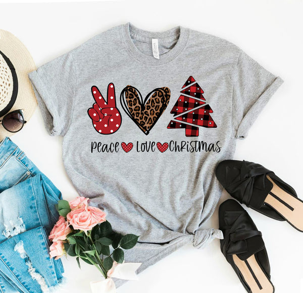 Peace Love and Christmas T-shirt