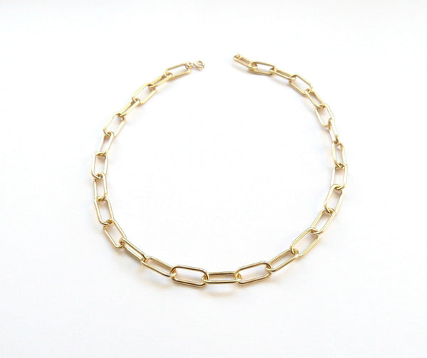 Chunky Gold Filled Paperclip Necklace