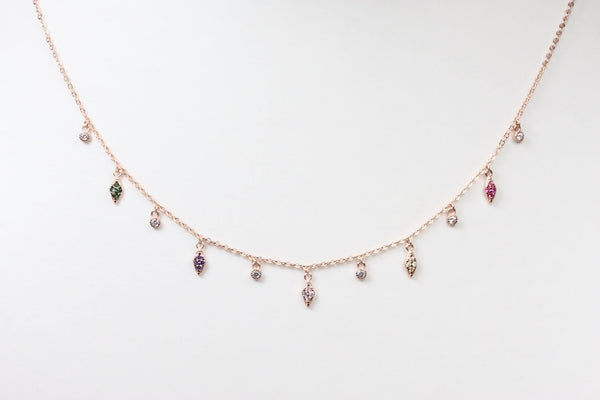 Necklace with Zircon Pendants -  www.sanroccoitalia.it - Necklaces