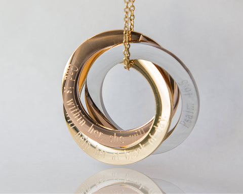Personalised Russian Rings Eternity Necklace -  www.sanroccoitalia.it - Jewelry & Watches
