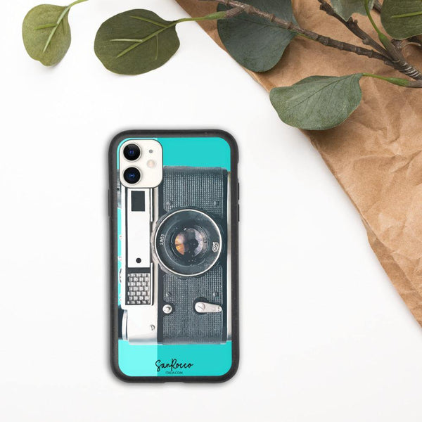 100% Biodegradable Camera iPhone Case -  www.sanroccoitalia.it - Phone Case