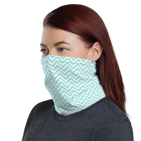 Teal Zigzag Neck Gaiter -  www.sanroccoitalia.it - [product_type]