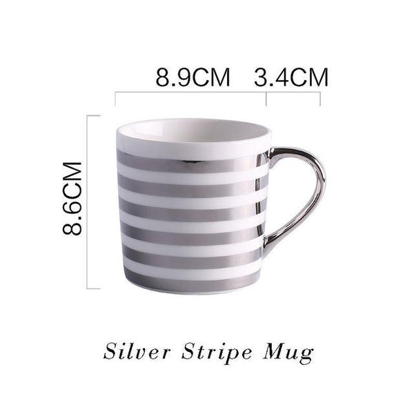Love & Heart-Themed Gold and Silver-Plated Luxury Mugs -  www.sanroccoitalia.it - Kitchen