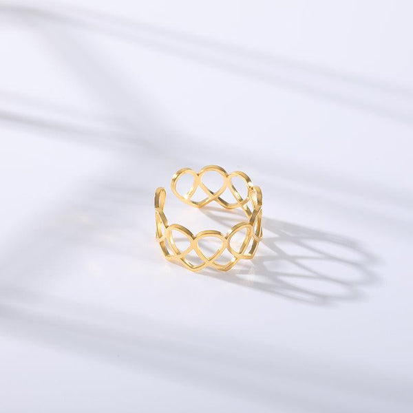 Hollow Heart Openwork Ring -  www.sanroccoitalia.it - Jewelry