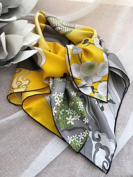 Square Silk Scarf - 100% Real Silk -  www.sanroccoitalia.it - Women - Accessories - Scarves
