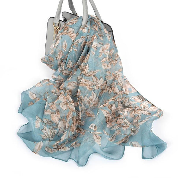 100% Silk Chiffon Scarf - Available in a variety of colours -  www.sanroccoitalia.it - Accessories
