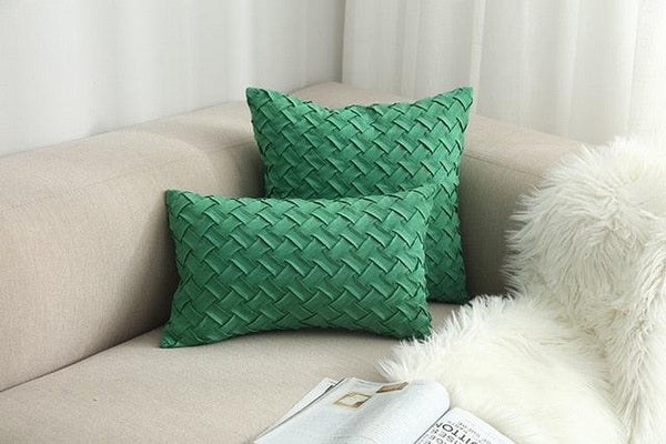 Blue Jewel Toned Faux Suede Woven Cushion Covers | 45x45cm/30x50cm -  www.sanroccoitalia.it - Cusion Cover