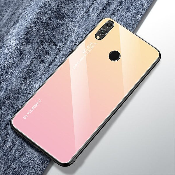 Tempered Glass Phone Case For Huawei Honor 8X 8S 7A 7C Pro 5.99 5.7 5.45 inch -  www.sanroccoitalia.it - Phone case