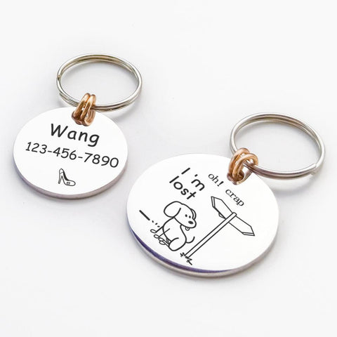 Personalised, Funny Engraved Pet ID Tags -  www.sanroccoitalia.it - Pet products
