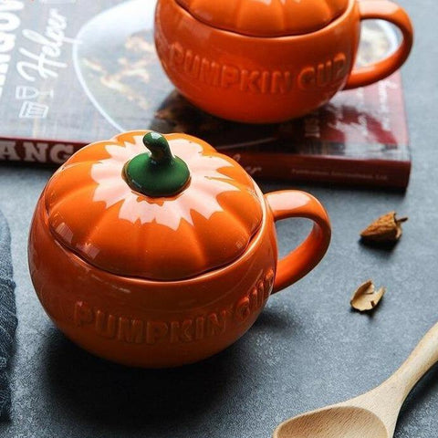 Large Handmade Ceramic Pumpkin Soup Cup/Mug