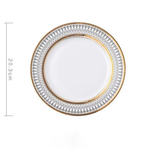 Gold/Silver and White Plates for Special Occasions or Events -  www.sanroccoitalia.it - Dinnerware