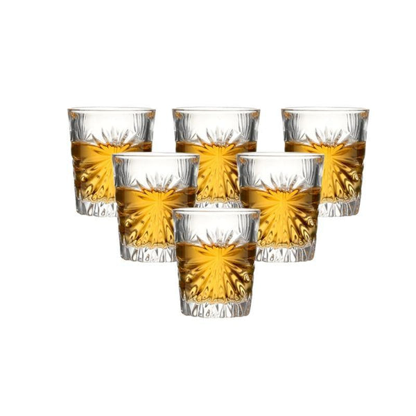 Set of 6 Heavy Bottom Shot Glasses - 55 ml -  www.sanroccoitalia.it - drinkware