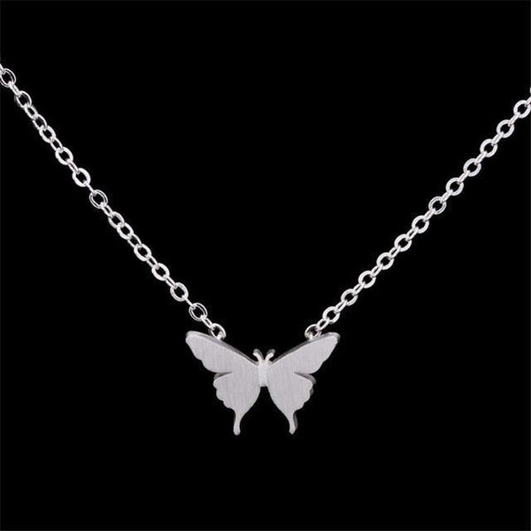 Stainless Steel Butterfly Necklaces For Women Gold Silver Color Long Chain Female Pendant Necklace Fashion Jewelry Collier Femme -  www.sanroccoitalia.it - [product_type]