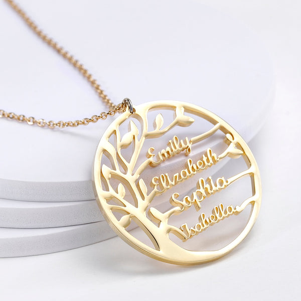 Personalised Family Tree Statement Necklace